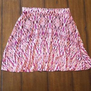 Cynthia Rowley flowy printed skirt pockets pink